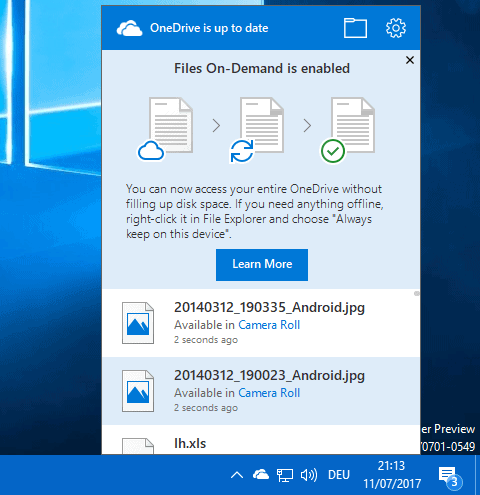 How to use OneDrive's Files On-Demand feature