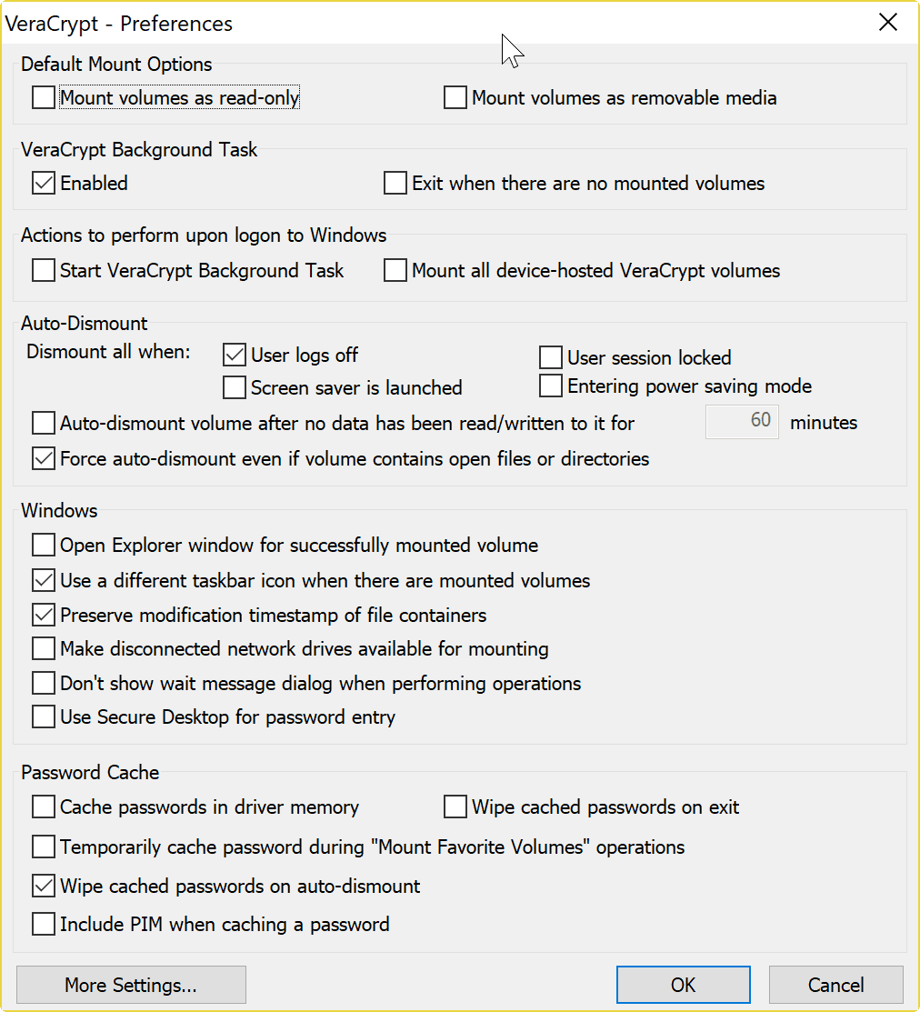 veracrypt secure desktop