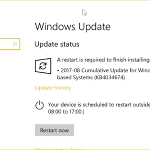 windows update august 2017