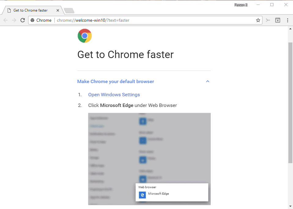 get to chrome faster
