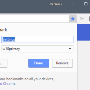 google chrome reverse bookmark add