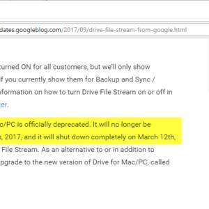 google drive retired