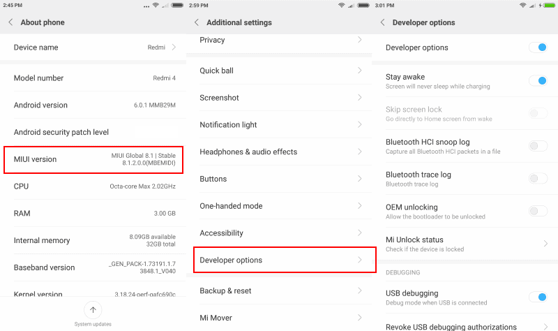 How to enable Developer Options on Xiamoi Redmi Android ...