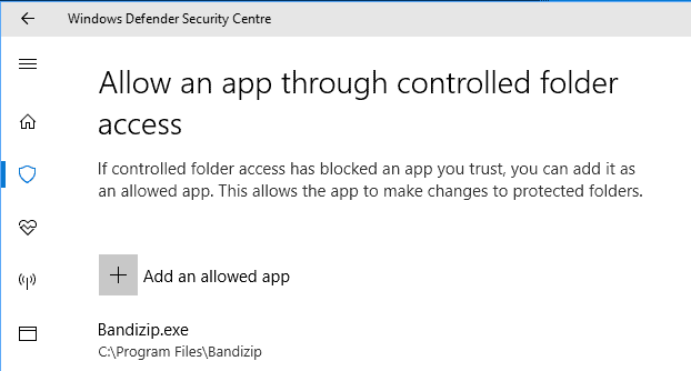 allow-apps controlled folder access
