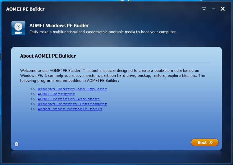 aomei windows pe builder