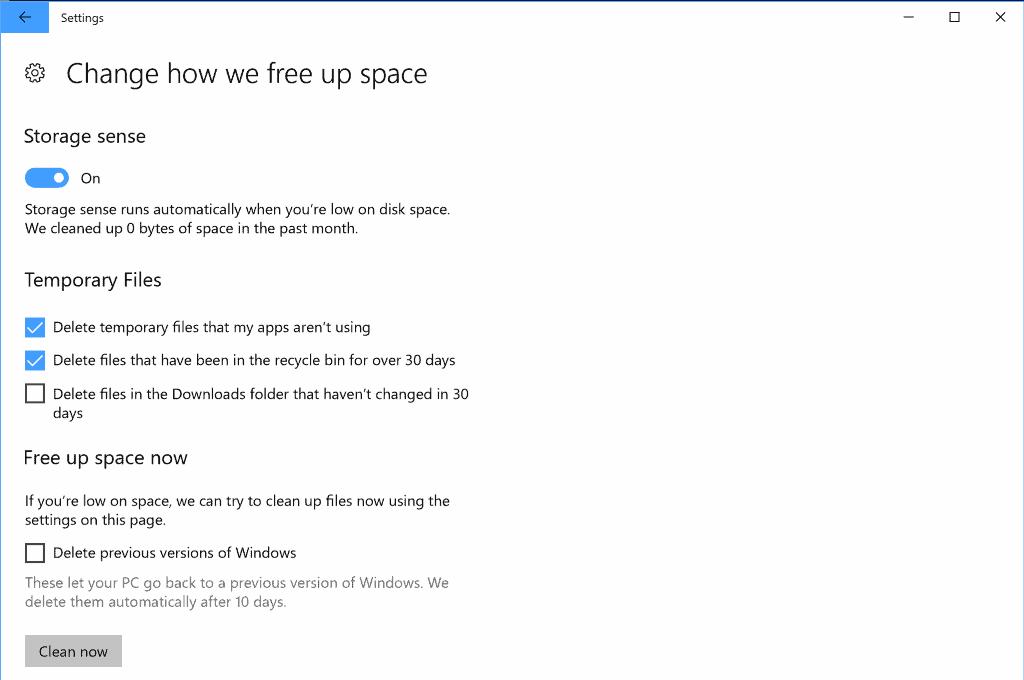 delete previous versions of windows