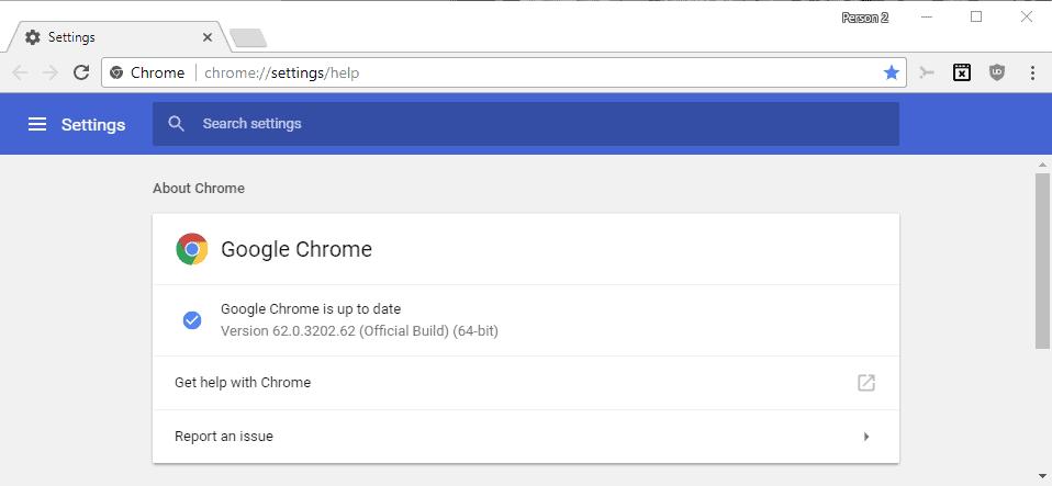 google chrome 62