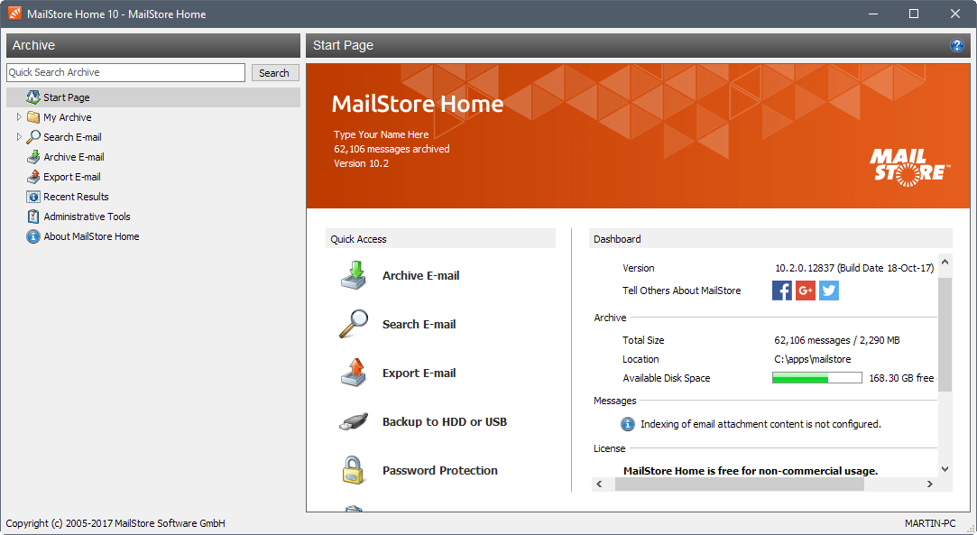 mailstore home 10.2