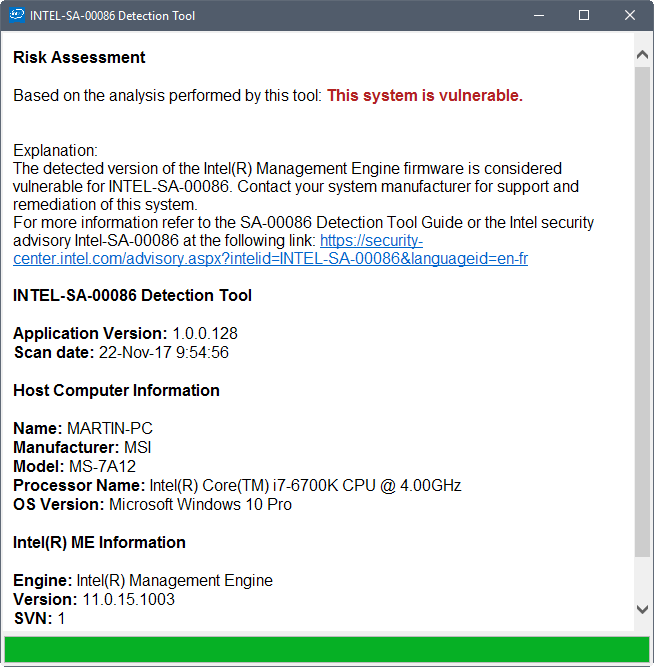 Find out if your Intel CPU is vulnerable to Intel Manageability Engine vulnerabilities