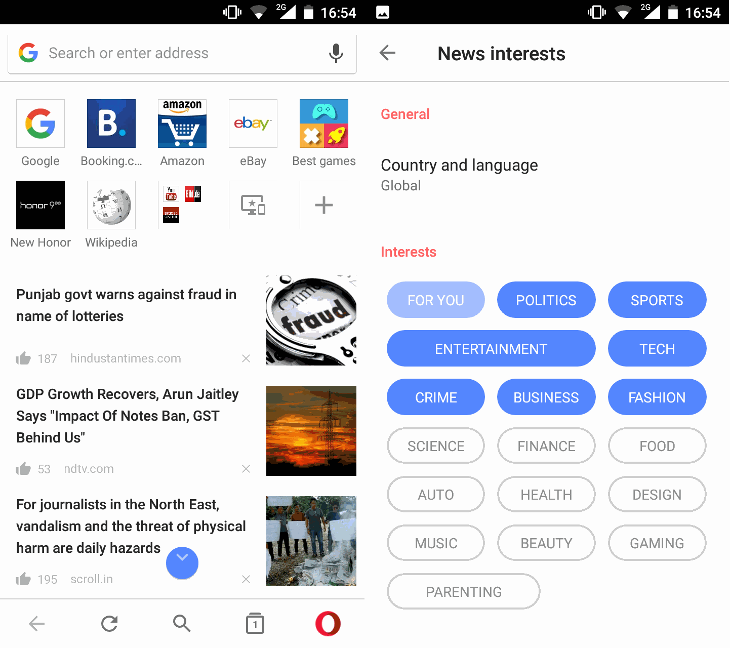 opera 44 mobile android