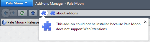 pale moon webextensions