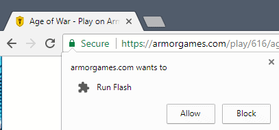 run flash chrome