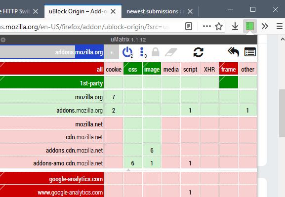 umatrix interface