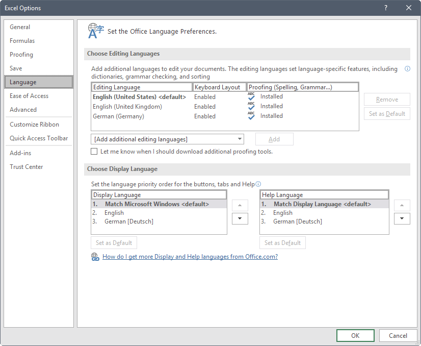 How to change the language of Microsoft Office