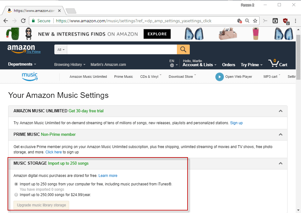Amazon is planning to end support for its online MP3 locker