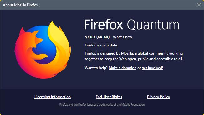 firefox 57.0.3