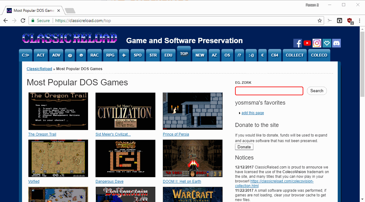 play classic pc dos games online