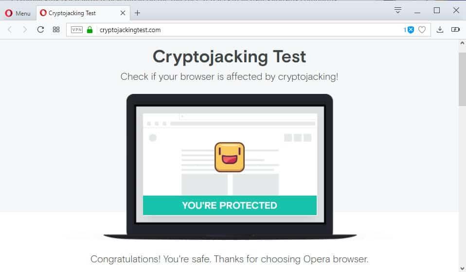 test your web browser 39 s cryptojacking protection ghacks. Black Bedroom Furniture Sets. Home Design Ideas