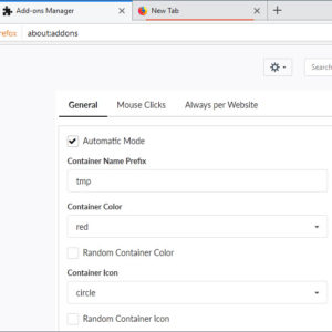 firefox temporary containers