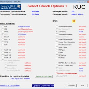 kuc windows update checker