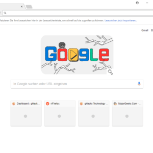 chrome new tab page 4 tiles