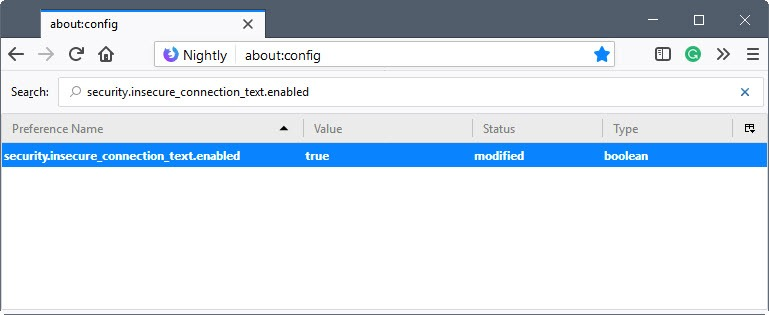 firefox security.insecure_connection_text.enabled