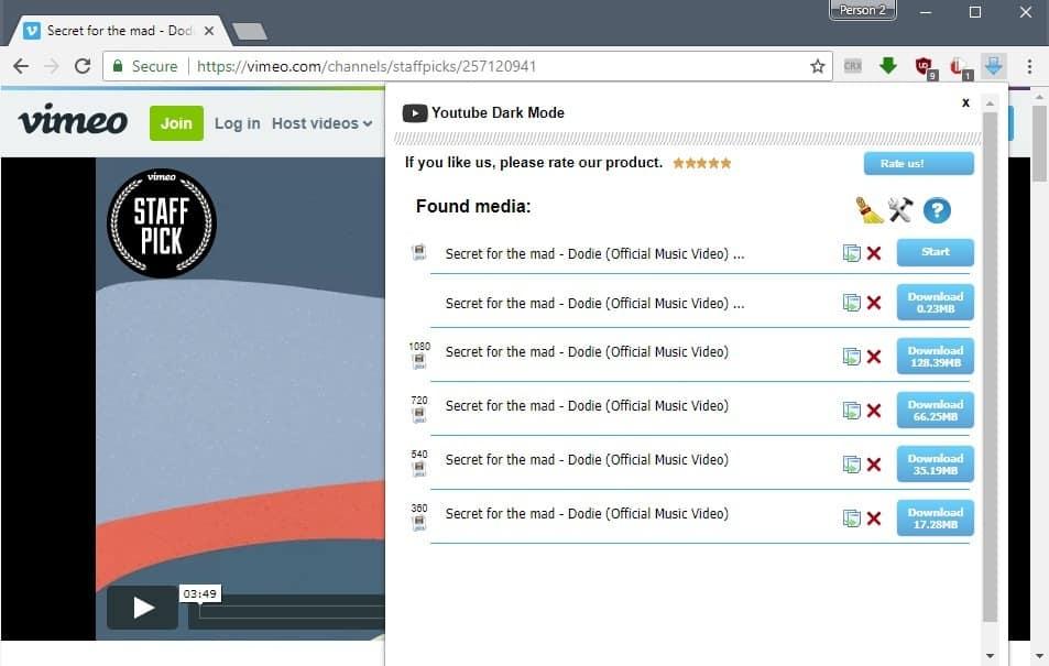 free video downloader chrome