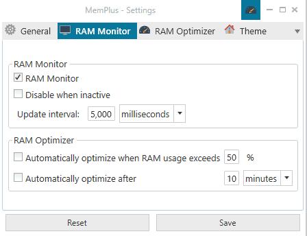 optimize ram memplus