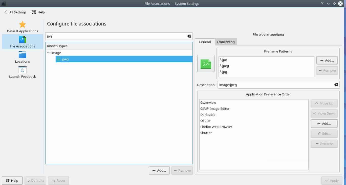 KDE Applications Settings