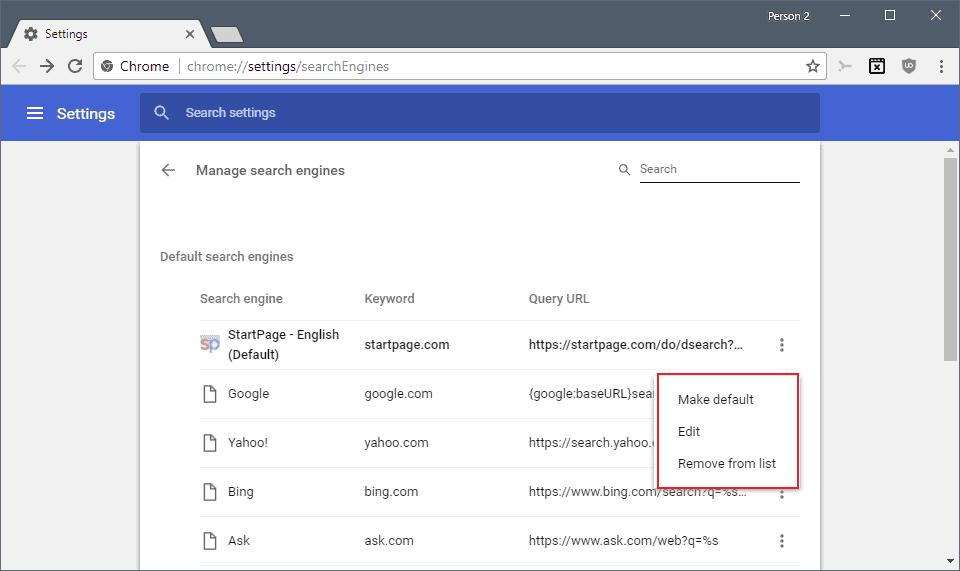 chrome edit search