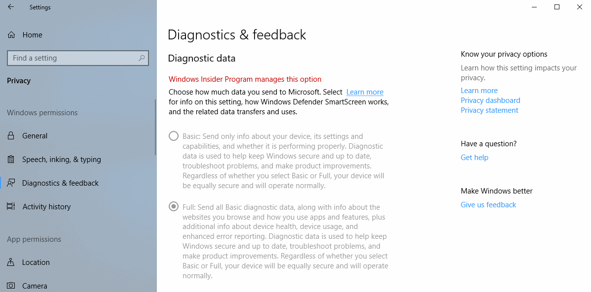 diagnostics windows 10