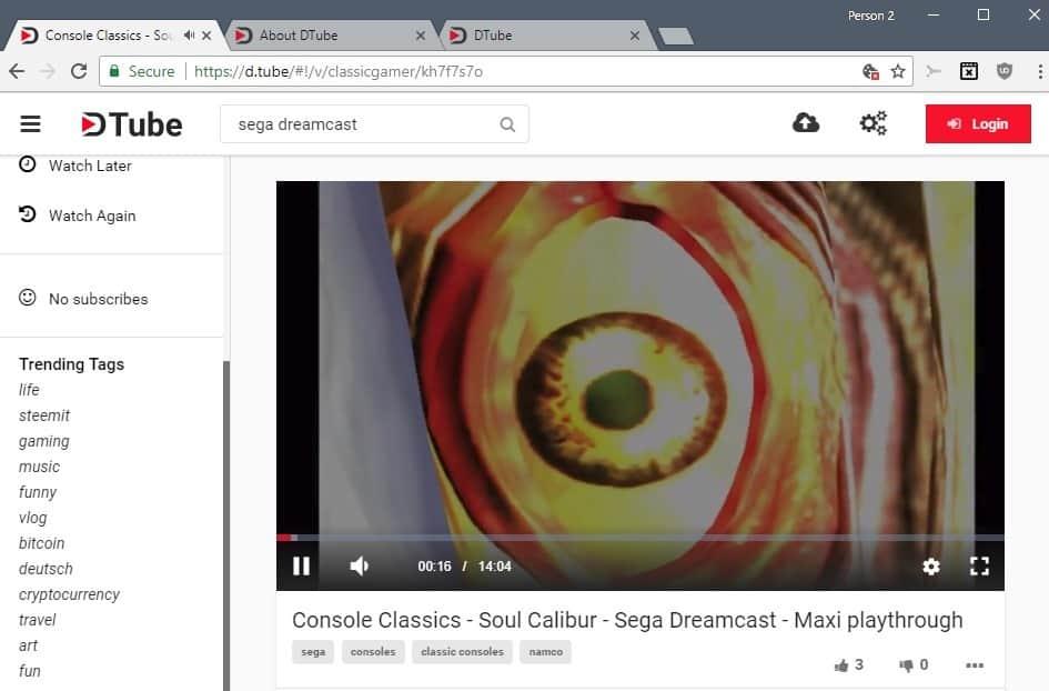 dtube video playback