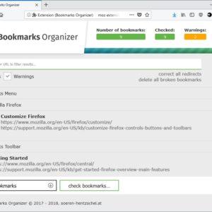 firefox bookmarks organizer 2.0