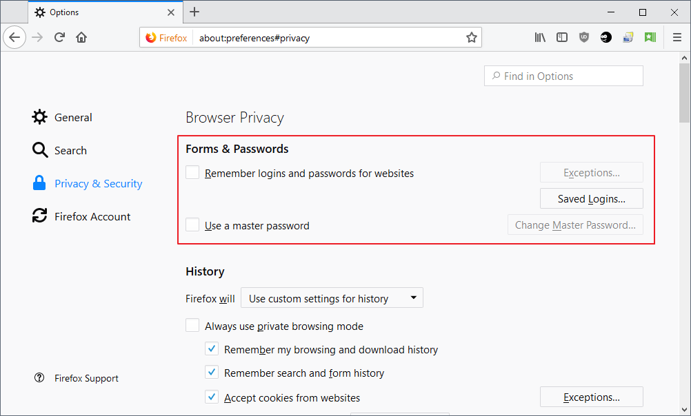 Firefox's Password Manager has a flaw, but it will be fixed