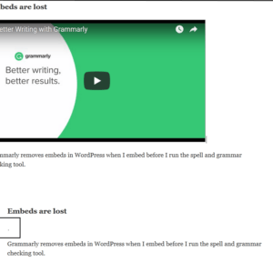 grammarly embeds lost