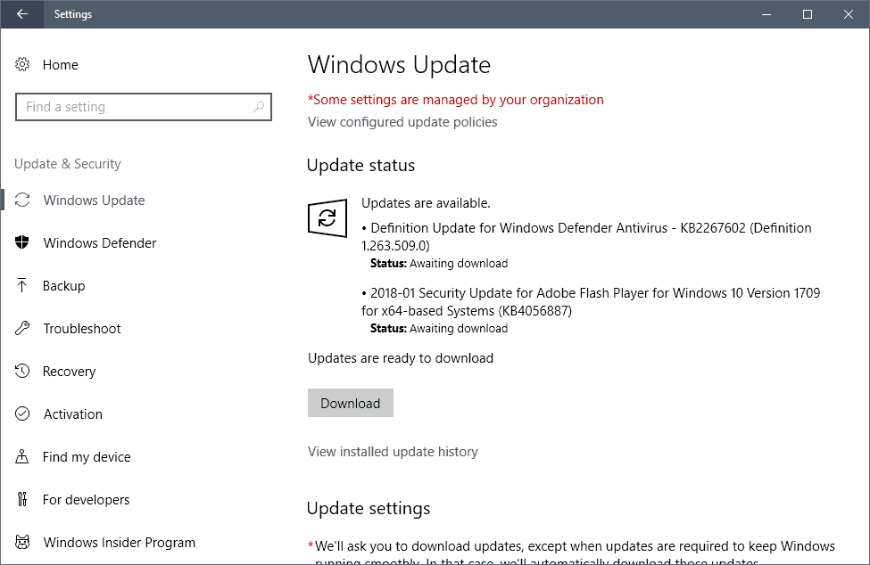 Microsoft Security Updates March 2018 release overview