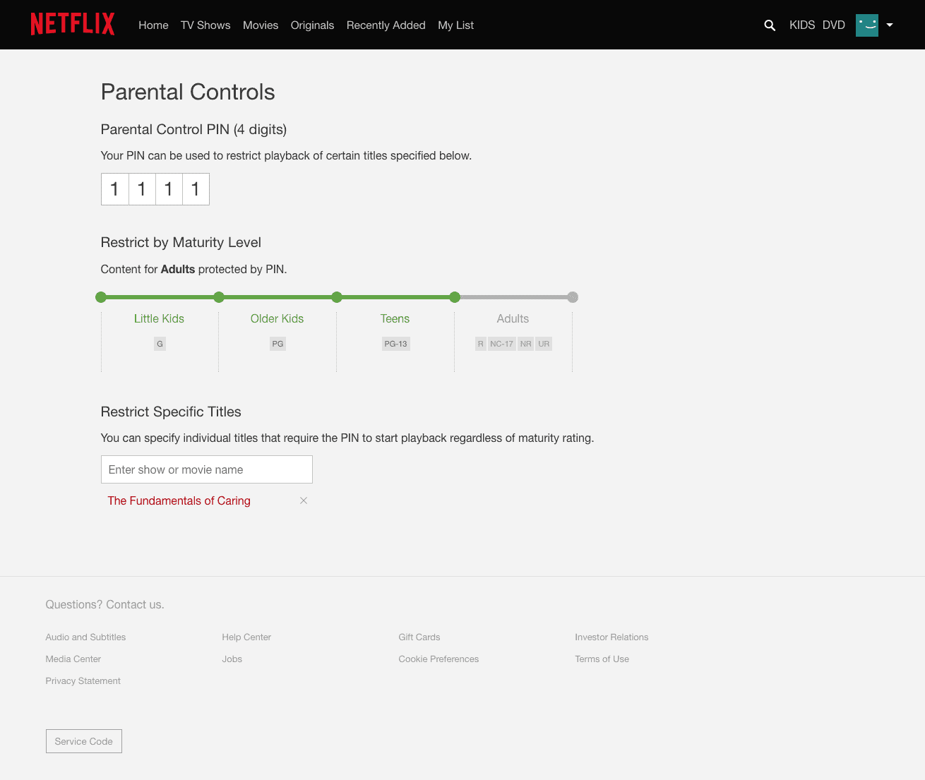 netflix pin protect titles