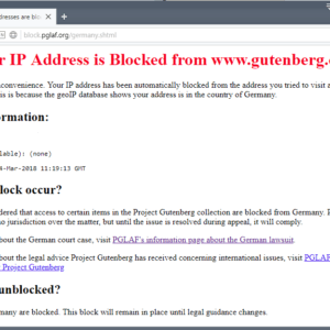 project gutenberg blocked
