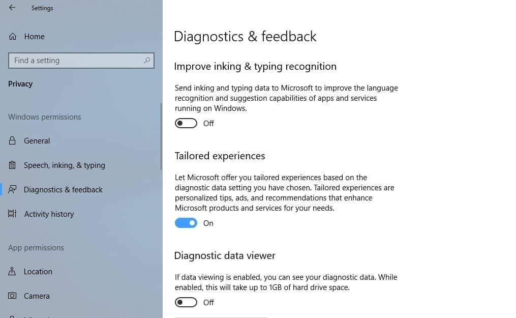 windows 10 improve inking typing