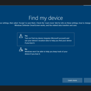 windows 10 setup privacy