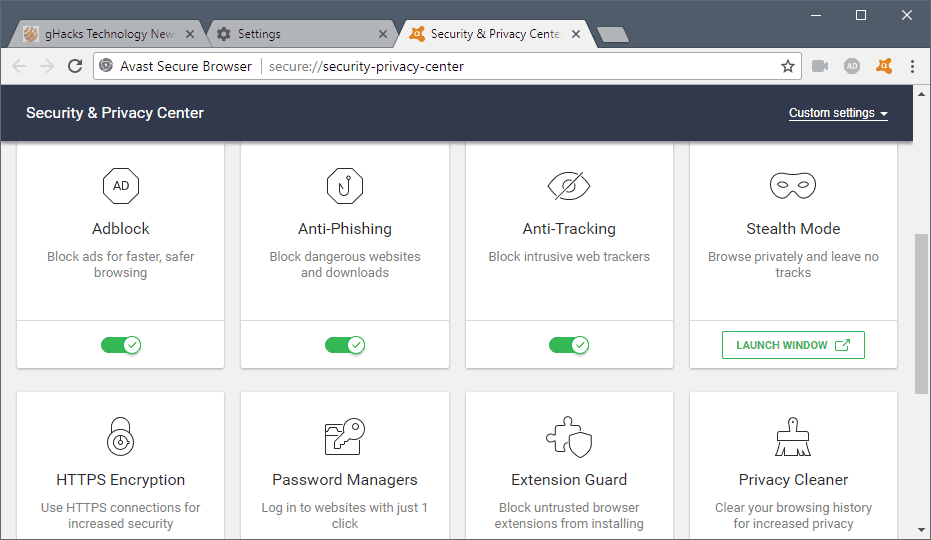 avast security privacy center