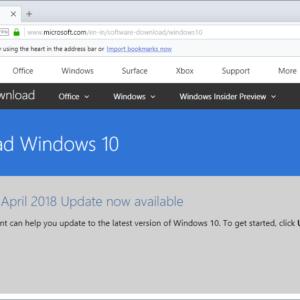 download windows 10 april 2018 update