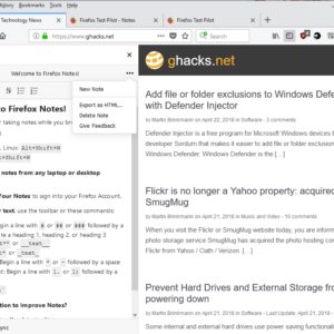 firefox notes