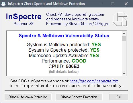 spectre meltdown vulnerability check