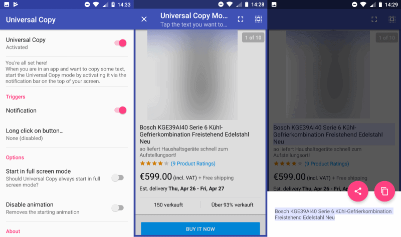 universal copy android