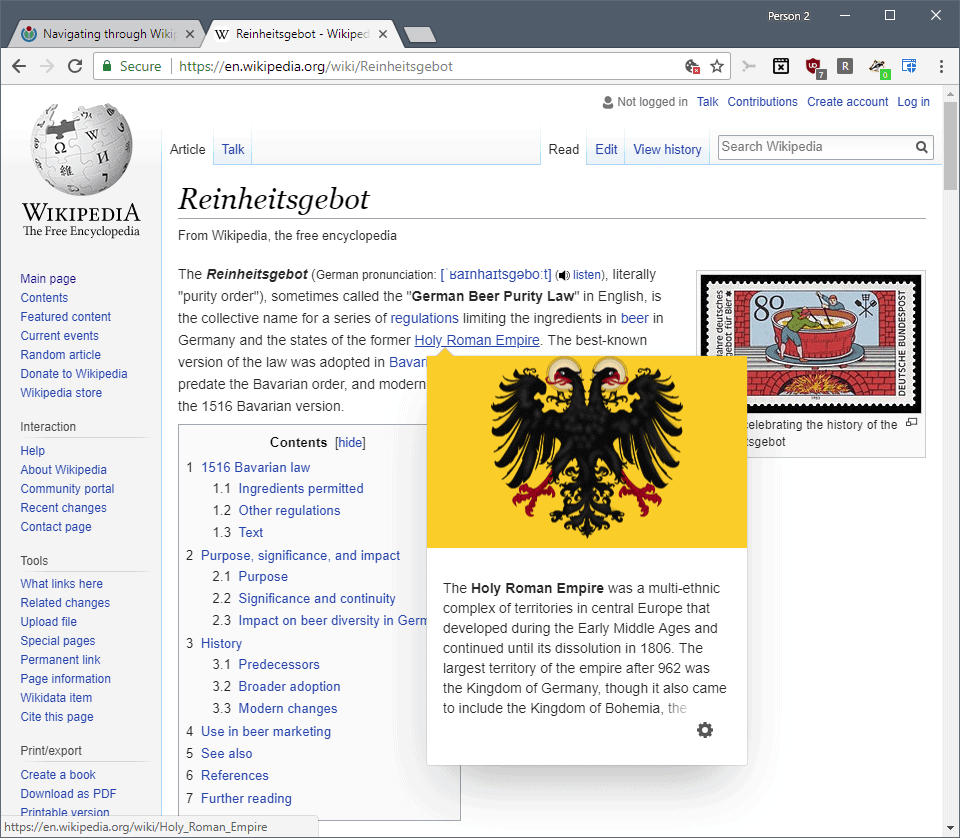 wikipedia link previews