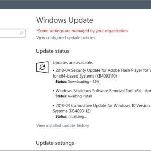 windows updates april 2018