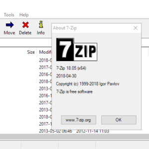 7-zip 18.05