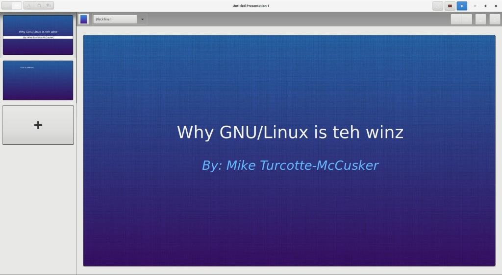 A look at Spice-Up presentation software for GNU/Linux
