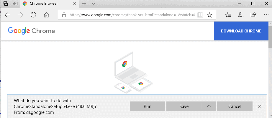 How to download Google Chrome offline installers